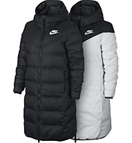 Nike Sportswear Parka Down Fill - giacca in piuma - donna, Black/White