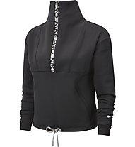 Nike Pro Fleece Cropped - Fleecepullover - Damen, Black