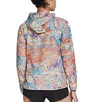 Nike Windrunner Trail Running - giacca running - donna, Light Blue/Orange/Violet