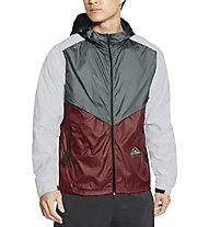 Nike  Windrunner Trail Running - giacca trail running - uomo, Grey/Dark Red