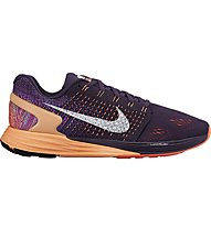 Nike Lunarglide 7 - scarpa running donna, Grand Purple/White-Sunset Glow