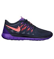 Nike Free 5.0 - scarpe running - donna, Dark Blue/Purple