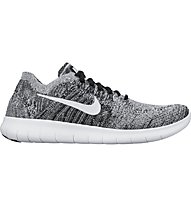 Nike Free Run Flyknit 2 - Natural Laufschuh - Damen, Black/White
