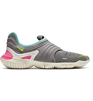 Nike Free RN Flyknit 3.0 - scarpe natural running - donna, Light Grey/Pink