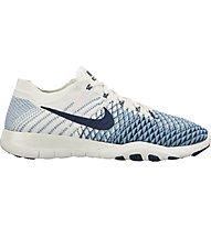 Nike Free TR Flyknit 2 Indigo W - scarpe fitness e training - donna, White/Blue