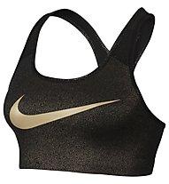 Nike Pro Classic Swoosh Gold Graphic Sport-BH, Black/Metallic Gold