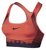Nike Pro Hyper Classic Padded Sport-BH mittlerer Halt, Orange/Lila