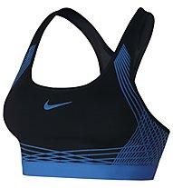 Nike Pro Hyper Classic Padded Sport-BH mittlerer Halt, Blue/Black