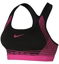 Nike Pro Hyper Classic Padded Sport-BH mittlerer Halt, Pink/Black