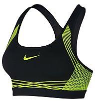 Nike Pro Hyper Classic Padded Sport-BH mittlerer Halt, Black/Yellow