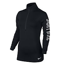 Nike Women Pro Warm Top - maglia running donna, Black