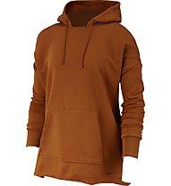 Nike Fleece Training - felpa con cappuccio - donna, Brown
