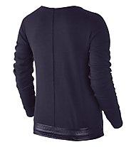 Nike Women Sportswear Advance 15 Crew Felpa fitness donna, Violet