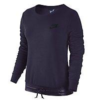 Nike Sportswear Advance 15 Crew Felpa Fitness Sweatshirt Damen, Violet