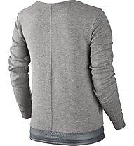 Nike Women Sportswear Advance 15 Crew Felpa fitness donna, Grey