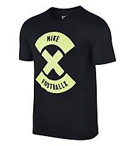 Nike X Glow Fußball T-Shirt Herren, Black/Volt