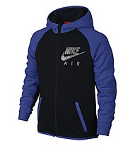 Nike YA FT Flash FZ Boys' Hoodie, Black/Game Royal/Black