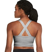 Nike Yoga Cropped Gingham - Trainingstop - Damen, White, Black