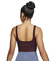 Nike Yoga Luxe Crop - Fitness-Tanktop- Damen, Brown