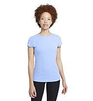 Nike Yoga Luxe Short Sleeve - T-Shirt - Damen , Blue