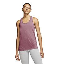 Nike Yoga - top yoga - donna, Dark Rose