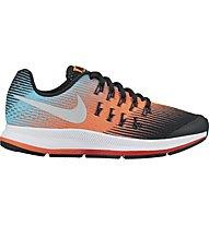 Nike Zoom Pegasus 33 Youth - scarpa running - bambino, Light Blue/Orange
