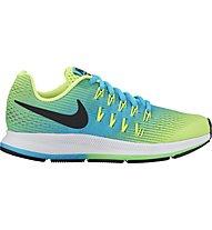 Nike Zoom Pegasus 33 Youth - scarpa running - bambino, Volt/Black