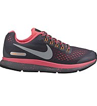 Nike Zoom Pegasus 34 Shield (GS) - Laufschuhe Neutral - Kinder, Grey/Pink