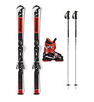 Nordica Set Team JR FDT 100/110/120 cm: Ski + Bindung + Stöcke + Skischuhe