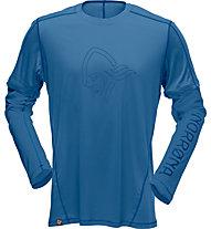 Norrona /29 tech - Langarmshirt Wandern - Herren, Blue