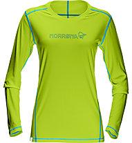 Norrona /29 tech Langarmshirt Damen, Birch Green/Cyantastic