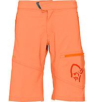 Norrona /29Flex1 - kurze Wanderhose - Kinder, Orange