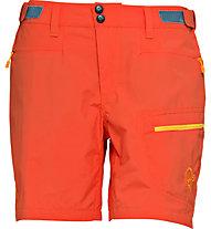 Norrona Bitihorn lightweight pantaloni corti trekking donna, Hot Chili