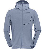 Norrona Bitihorn powerstretch Zip-Hood giacca con cappuccio, Bedrock