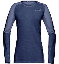 Norrona Bitihorn wool - Langarmshirt Bergsport - Damen, Blue