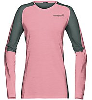 Norrona Bitihorn wool - maglia a maniche lunghe - donna, Pink