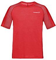 Norrona Bitihorn wool - T-shirt sportiva - uomo, Red