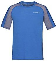 Norrona Bitihorn wool - T-shirt sportiva - uomo, Light Blue
