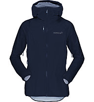 Norrona Bitihorn Dri1 - giacca hardshell con cappuccio - donna, Blue