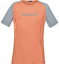 Norrona Fjora Equaliser Lightweight - t-shirt sport di montagna - donna, Orange
