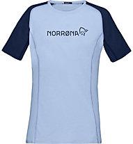 Norrona Fjora Equaliser Lightweight - t-shirt sport di montagna - donna, Blue