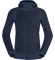 Norrona Falketind Alpha120 Zip Hood - Fleecejacke - Damen, Dark Blue