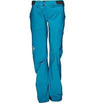 Norrona Falketind flex1 - pantaloni lunghi Softshell trekking - donna, Light Blue