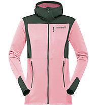 Norrona falketind warm1 Stretch - Fleecejacke mit Kapuze Wandern - Damen, Pink/Green