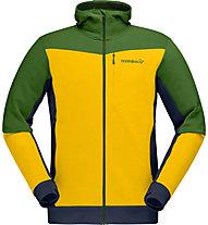 Norrona falketind warmwool2 stretch - Softshelljacke - Herren, Yellow/Green