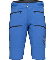 Norrona fjørå flex1 heavy duty - pantaloncini ciclismo - uomo, Light Blue