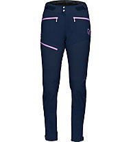 Norrona Fjørå Flex1 Pants - pantaloni lunghi MTB - donna, Blue/Pink