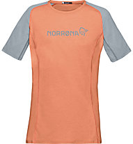 Norrona Fjora Equaliser Lightweight - T-Shirt Bergsport - Damen, Orange