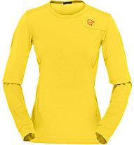Norrona Fjora equaliser lightweight - Langarmshirt - Damen, Yellow