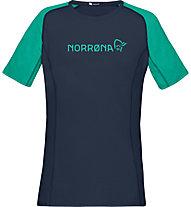 Norrona Fjora Equaliser Lightweight - T-Shirt Bergsport - Damen, Blue/Green